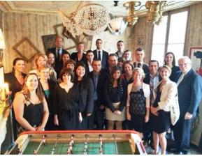 Les 84 apprentis des hôtels parisiens de Marriott International étaient à l'honneur le 17 juin 2014 - Photo DR