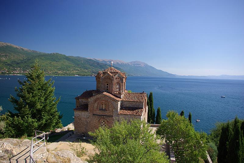 Ohrid est le joyau du tourisme macédonien. On tombe vite sous le charme de cette vieille ville perchée au dessus du lac, classée au patrimoine mondial de l'Unesco depuis 1979 - DR : J-F.R.
