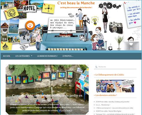 C'est Beau la Manche est le blog de Manche Tourisme - Capture d'écran