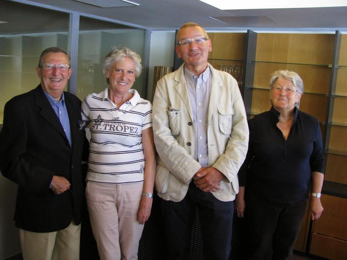 Les membres du Bureau de la région Grand Ouest. De gauche à droite : Jean Claude Cailleton, Eliane Lepage, Dominique Malassis et Dominique Pradère