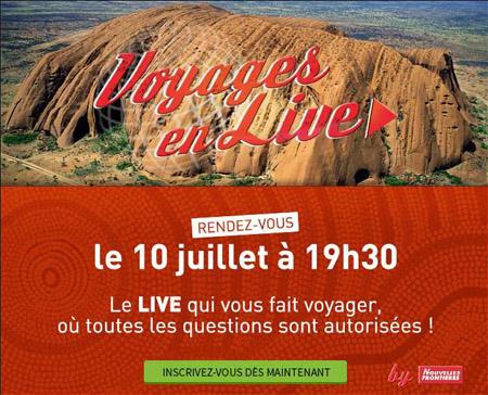 """Nouvelles Frontières  : l'Australie à l'honneur de l'émission """"Voyages en Live"""""""