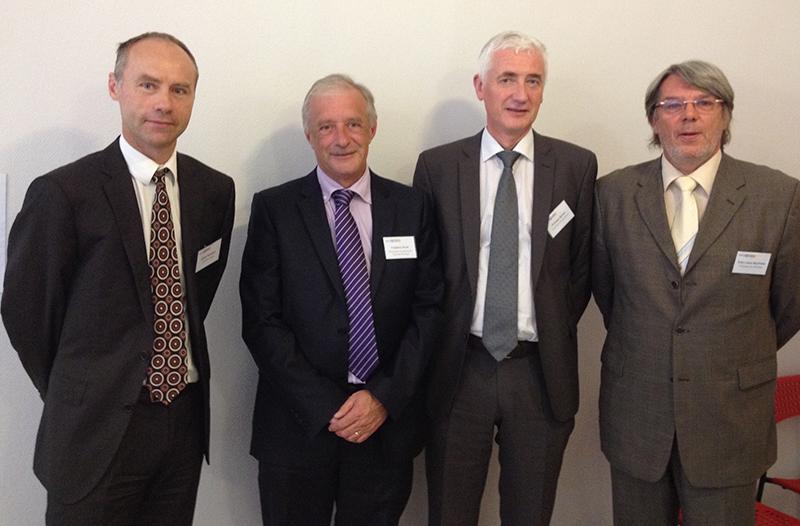 F.Pinet, président du directoire du groupe Perraud (2ème à gauche), avec G.Pernaton, P.Borini, AJ.Berthelet - DR