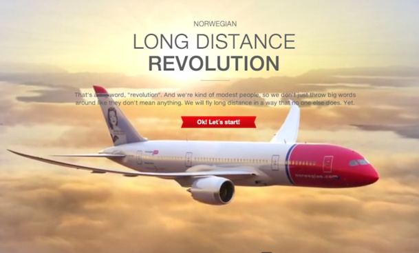 Norwegian hopes to attract more than 1 million passengers on its low-cost transatlantic flights. DR