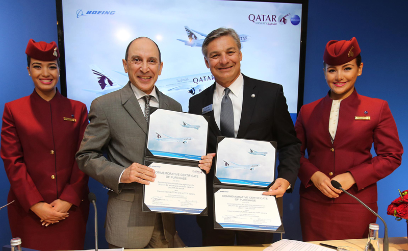 Qatar Airways finalise une commande de 50 avions B777-9X
