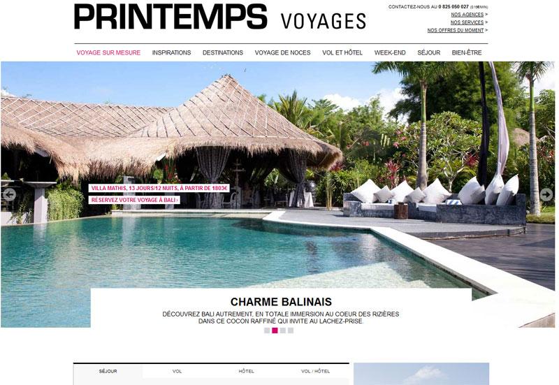 Moteur : SpeedMedia équipe le nouveau site de Printemps Voyages
