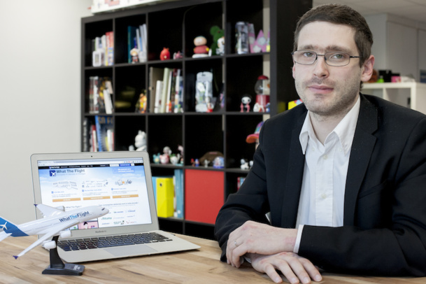 Florian David, founder of the opinion website What The Flight hopes to become the TripAdvisor of airline companies. DR