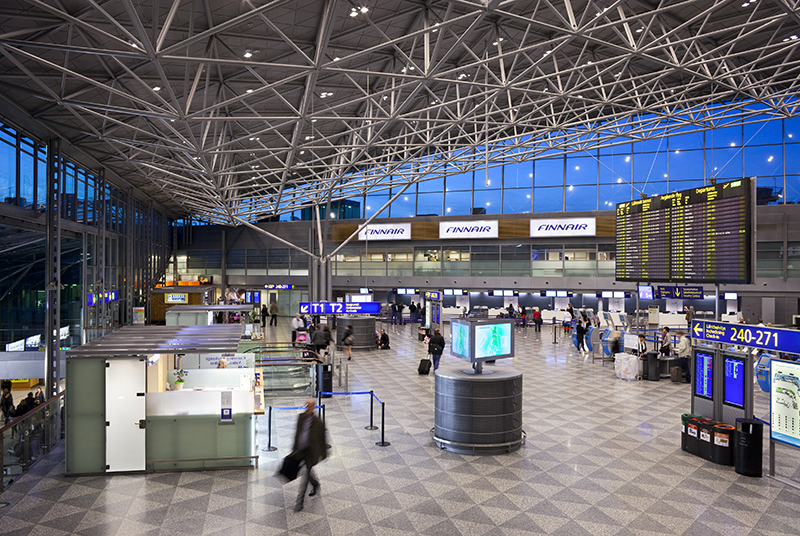 L'aéroport d'Helsinki va être équipé d'un système de localisation des passagers via wifi avant la fin de l'année 2014 - Copyright © Finavia Corporation