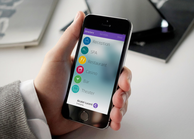 Alcatel-Lucent Enterprise a développé l'application « Smart Guest Application Suite » qui offre divers services tels que le contrôle de l'ambiance de la chambre d'hôtel, l'ajustement de l'éclairage et de la température, l'activation du réveil, etc.