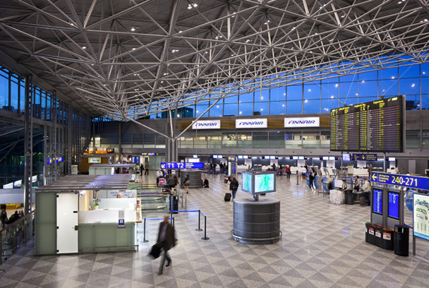 Helsinki's airport will be equipped with a passenger localization system via wifi before the end of 2014 - Copyright © Finavia Corporation