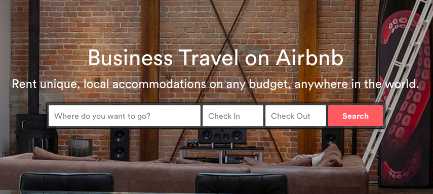 While it was mainly dedicated to individual renters, AirBnB is now tackling business travel.