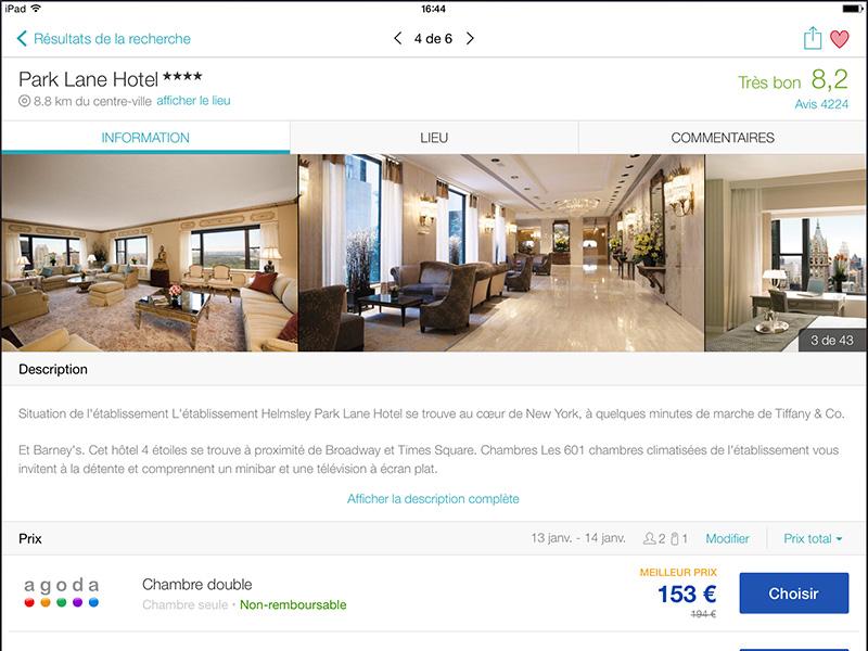 Skyscanner lance une application dédiée à la recherche d'hôtels