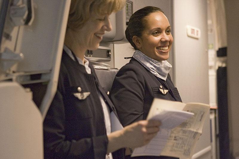 """Le personnel navigant d'Air France peut faire acte de """"nolontariat""""'. Ce néologisme un peu bizarre pour qualifier le refus d'effectuer une rotation vers un pays qu'il considère """"à risques"""" est bien connu des navigants - DR : Virginie Valdois, Air France"""