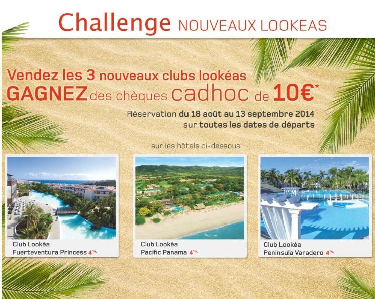"""Look Voyages fait gagner des chèques cadeaux """"Cadhoc"""""""