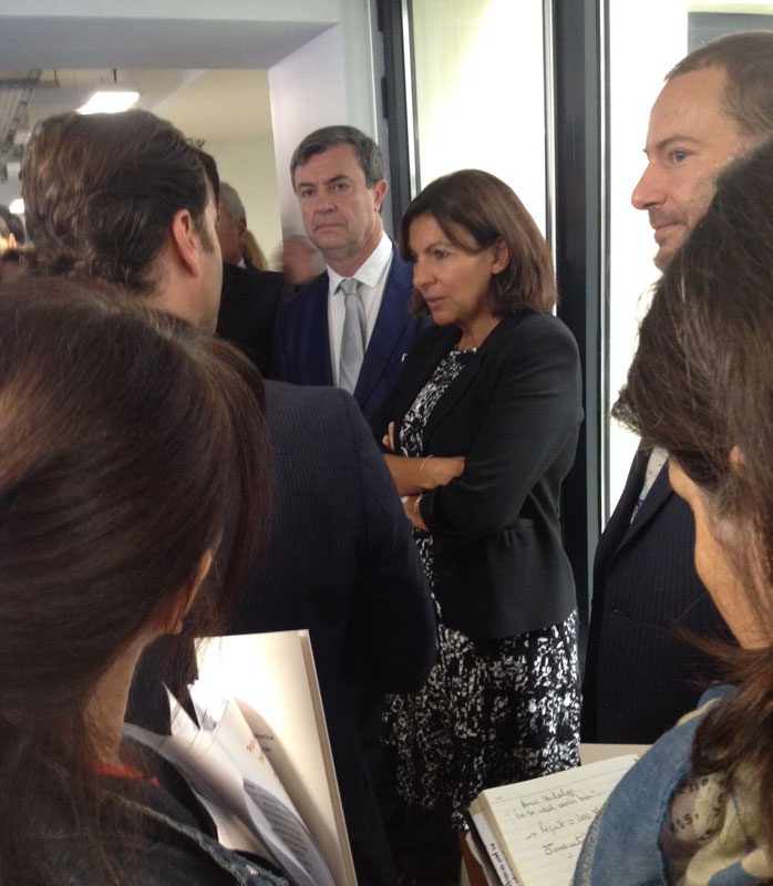 Anne Hidalgo inaugure le Welcome City Lab