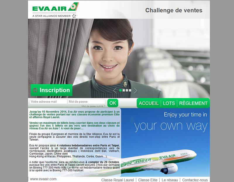 Eva Air lance un challenge de ventes