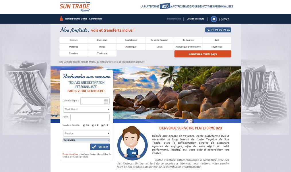 Sun Trade Travel propose des brochures dynamiques en ligne, mises à jour quotidiennement - Capture d'écran