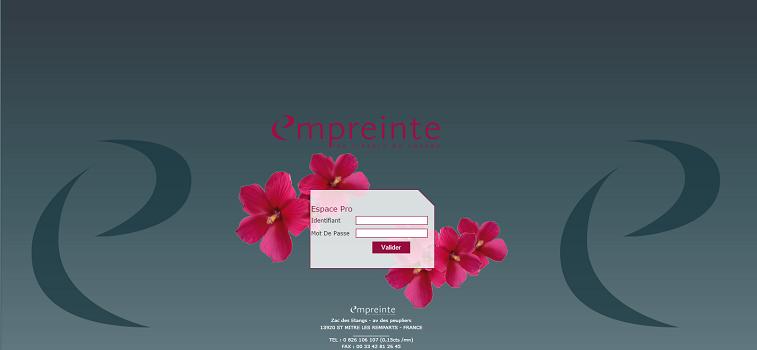 La nouvelle version du site BtoB d'Empreinte est désormais accessible - Capture d'écran