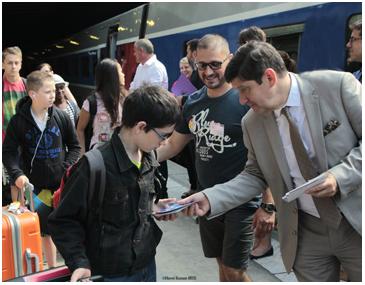 Patrick Kanner à la rencontre des jeunes du CCE de la SNCF - Photo : Twitter