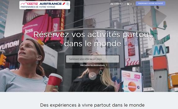 Le partenariat entre Ceetiz et Air France a permis de mettre en ligne un site dédié - Capture d'écran