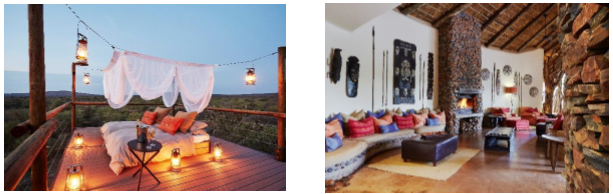Le Makanyane Safari Lodge compte 9 suites dans la forêt - Photos DR