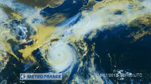 Le typhon Nangka capté par les services de Météo France - DR : Météo France