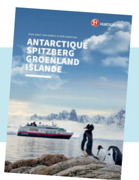 Couverture de la brochure spéciale destinations d'exploration - DR : Hurtigruten