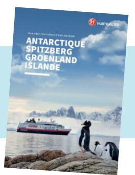 Couverture de la brochure spéciale destinations d'exploration - DR : Hurtigruten
