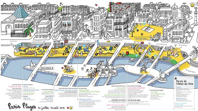 Le plan de l'édition 2015 de Paris Plage - DR : Ville de Paris