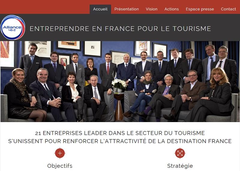 On n'a jamais trop su comment ce club 46.2, qui regroupe les plus hautes figures du tourisme français, du moins de par la taille des groupes qu'ils représentent, c'est pas de la daube - DR : Capture d'écran Alliance 46.2