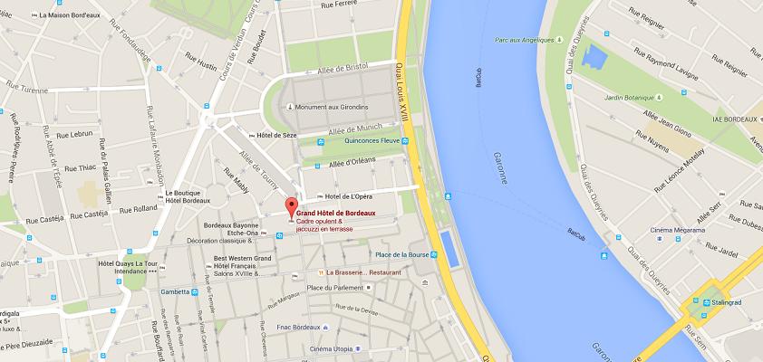 l'InterContinental va ouvrir ses portes à Bordeaux après la reconversion du Grand Hôtel - Dr : Google Maps