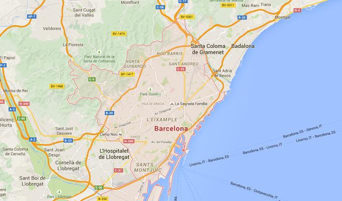 Carnival Corp renforce sa présence à Barcelone - DR : Google Maps