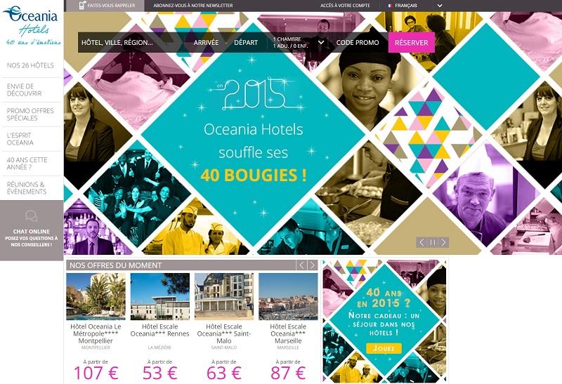 DR : Capture d'écran Oceania Hotels