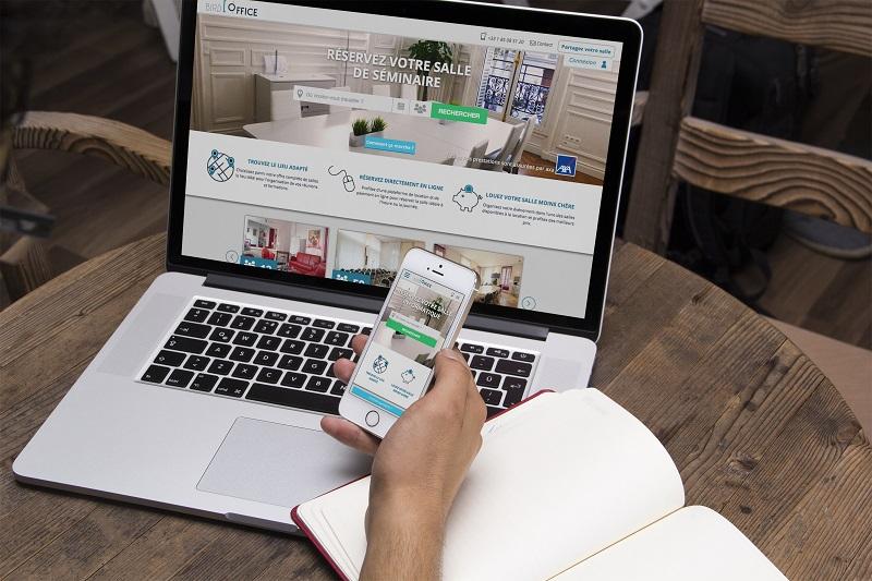 La plate-forme Bird Office permet de réserver une salle de réunion en ligne ou via votre smartphone ©Bird Office