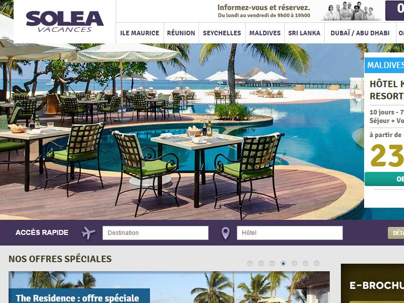 Solea Vacances développe son offre d'hébergements sur l'Île Maurice - Capture d'écran