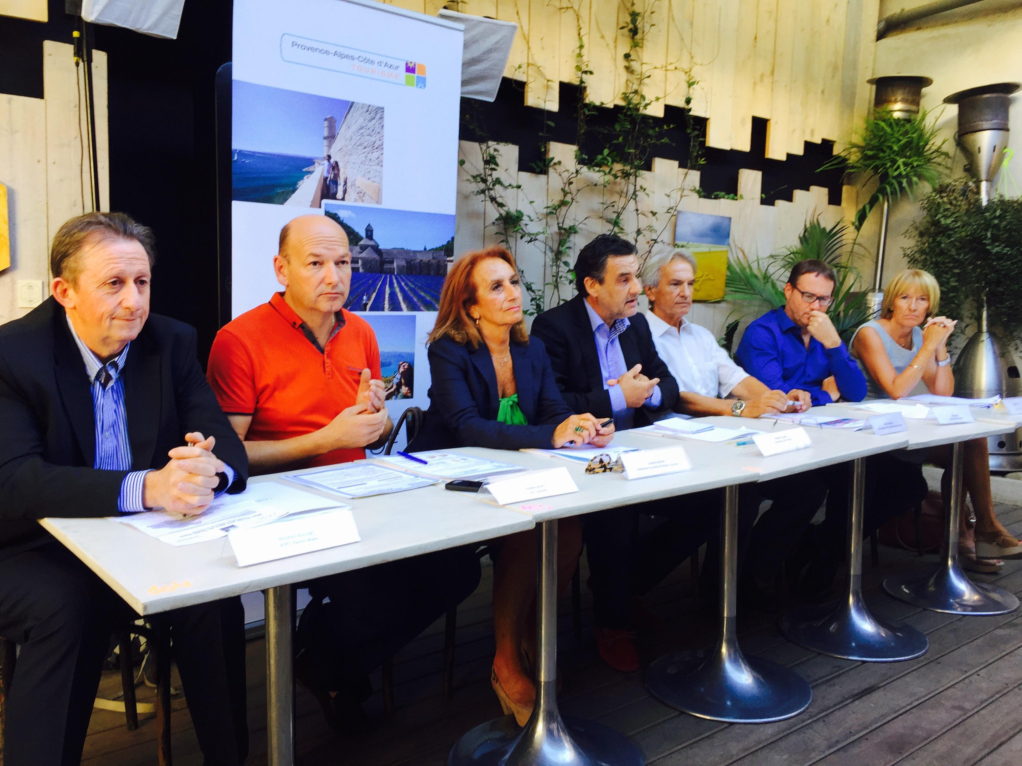 Les responsables touristiques de la région PACA faisaient le bilan de l'été à Marseille jeudi 27 août 2015 - Photo J.D.L.