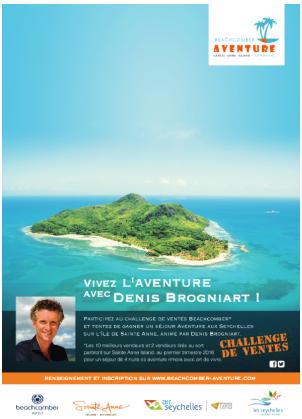 Les meilleurs vendeurs partiront aux Seychelles avec l'animateur de TF1 Denis Brogniart - DR : Beachcomber Hotel