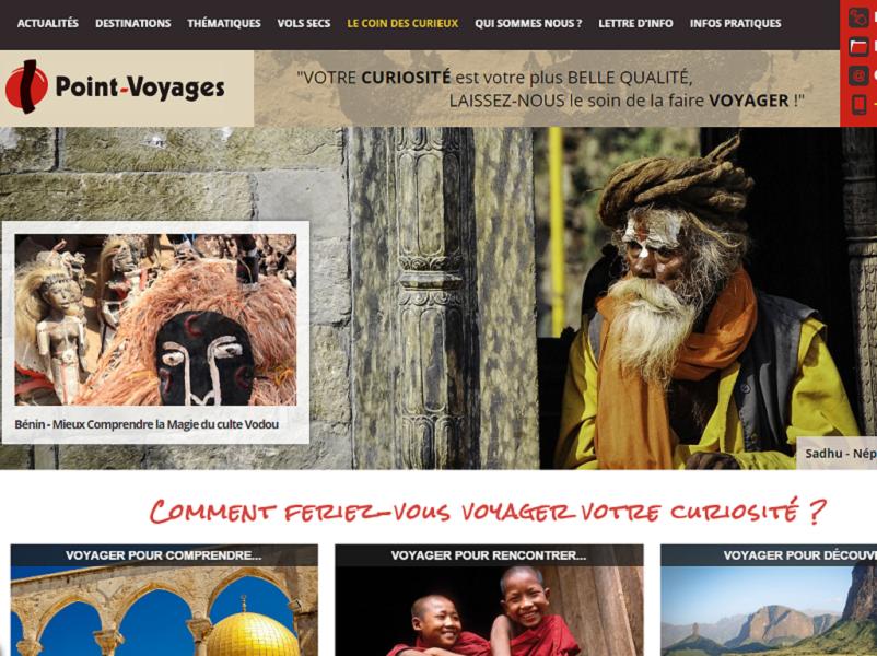 Le nouveau site internet de Point Voyages propose aujourd'hui 50 destinations. DR