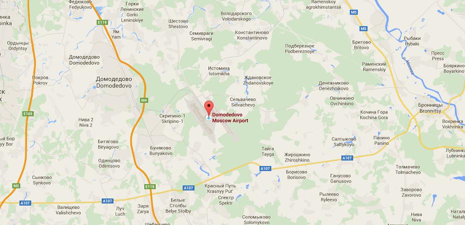 L'incendie s'est déclaré dans l'aéroport de Moscou-Domodedovo - DR : Google Maps