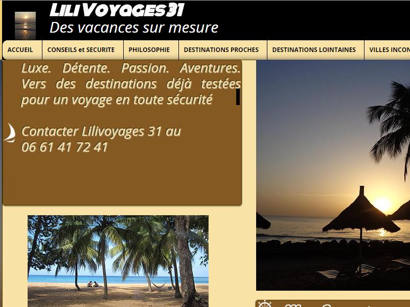 Aurélie De Meerler a lancé LiliVoyages31 en juin 2015 - Capture d'écran