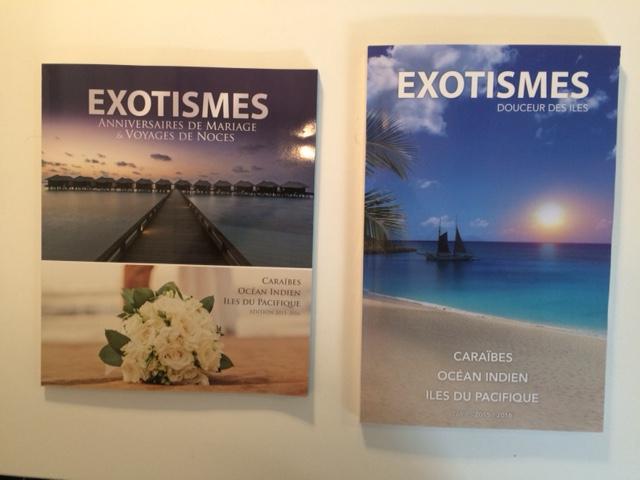 Les nouvelles brochures d'Exotismes. DR