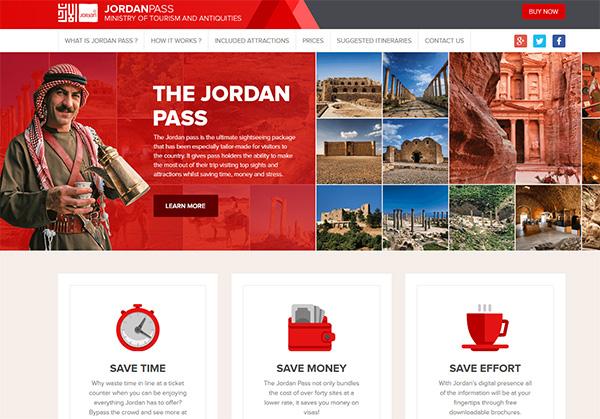 Le Jordan Pass s'achète directement en ligne sur un site dédié - Capture écran