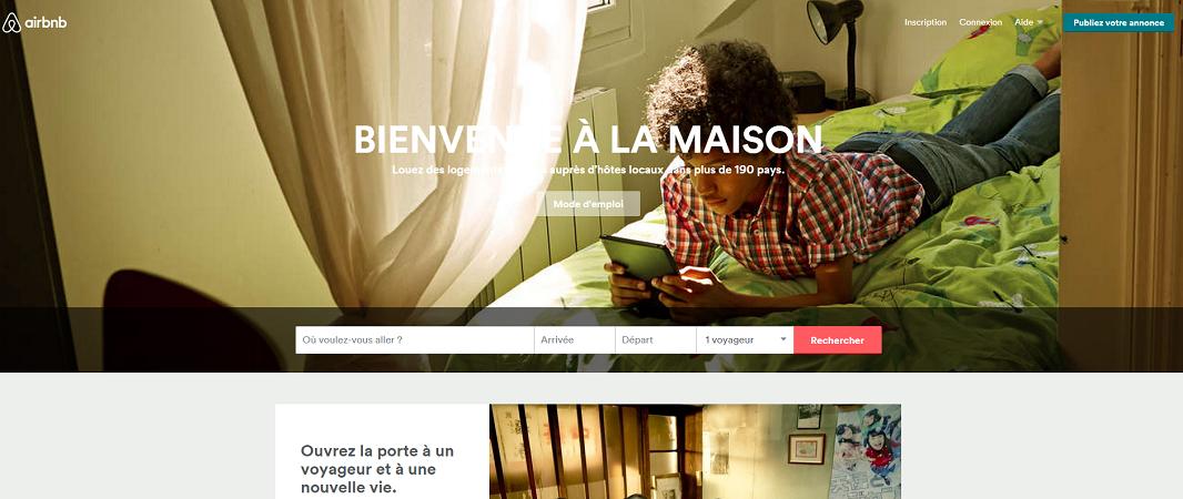 Airbnb a fait voyager près de 17 millions de personnes pendant l'été 2015 - Capture d'écran
