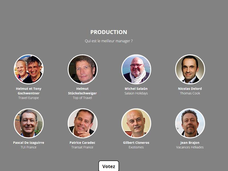 Votez pour les meilleurs managers de l'année 2015 en cliquant sur l'image ou sur la légende - Capture écran