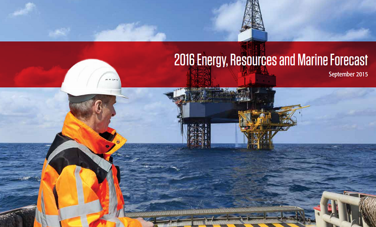 "Le rapport ""2016 Energy, Resources and Marine Forecast"" est disponible au téléchargement gratuit - DR : CWT"