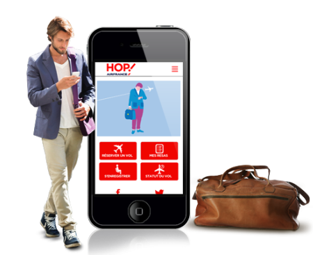 L'application mobile de Hop! Air France permet de réserver, s'enregistrer et obtenir une carte d'embarquement - DR : Hop ! Air France