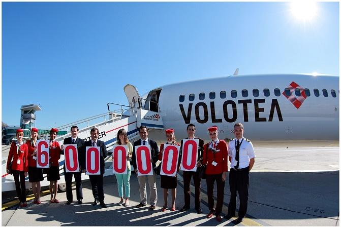 Volotea célèbre sa 6 millionième passag_re à l'aéroport de Strasbourg - Photo : Volotea