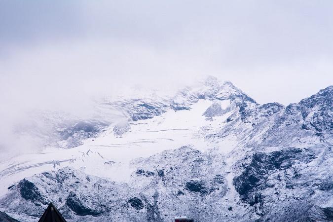 Val Thorens diffuse des photographies de ses sommets enneigés - Photo : Val Thorens