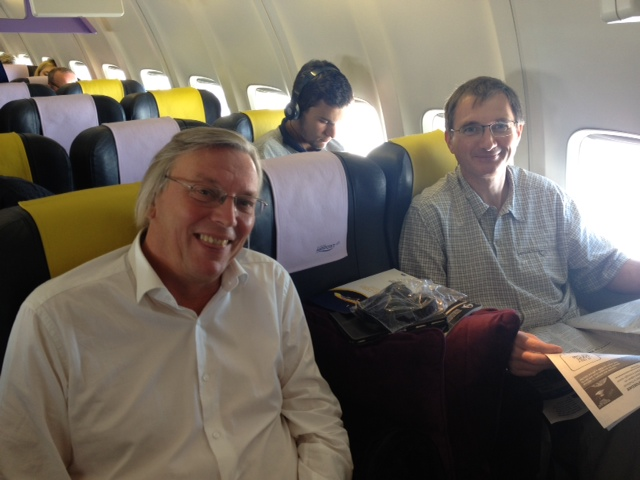 Europe Airpost : Jean-François Dominiak, le patron de la compagnie française et Eric Vincent le directeur commercial - DR