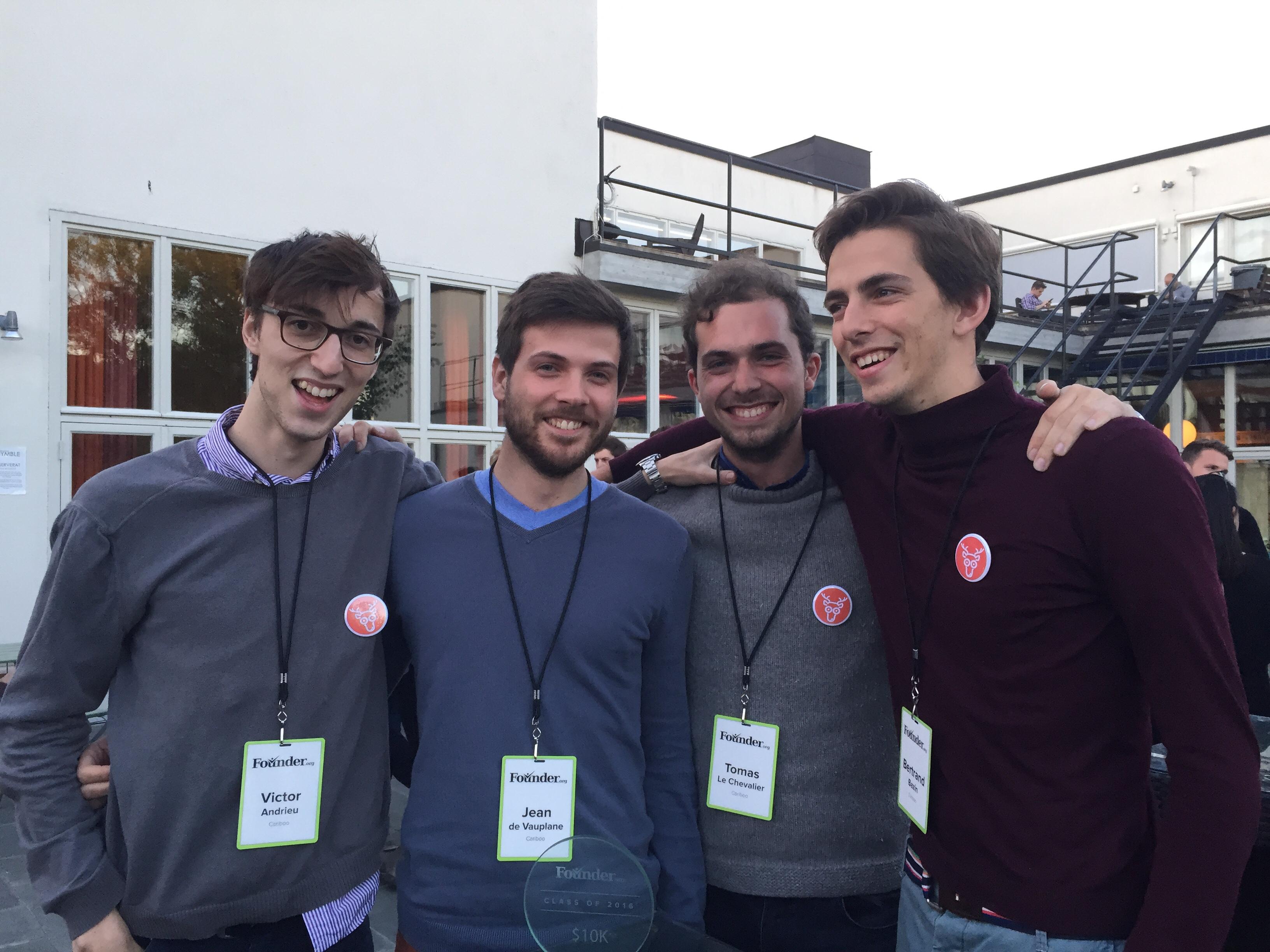 Les 4 amis fondateurs de Cariboo - Photo DR