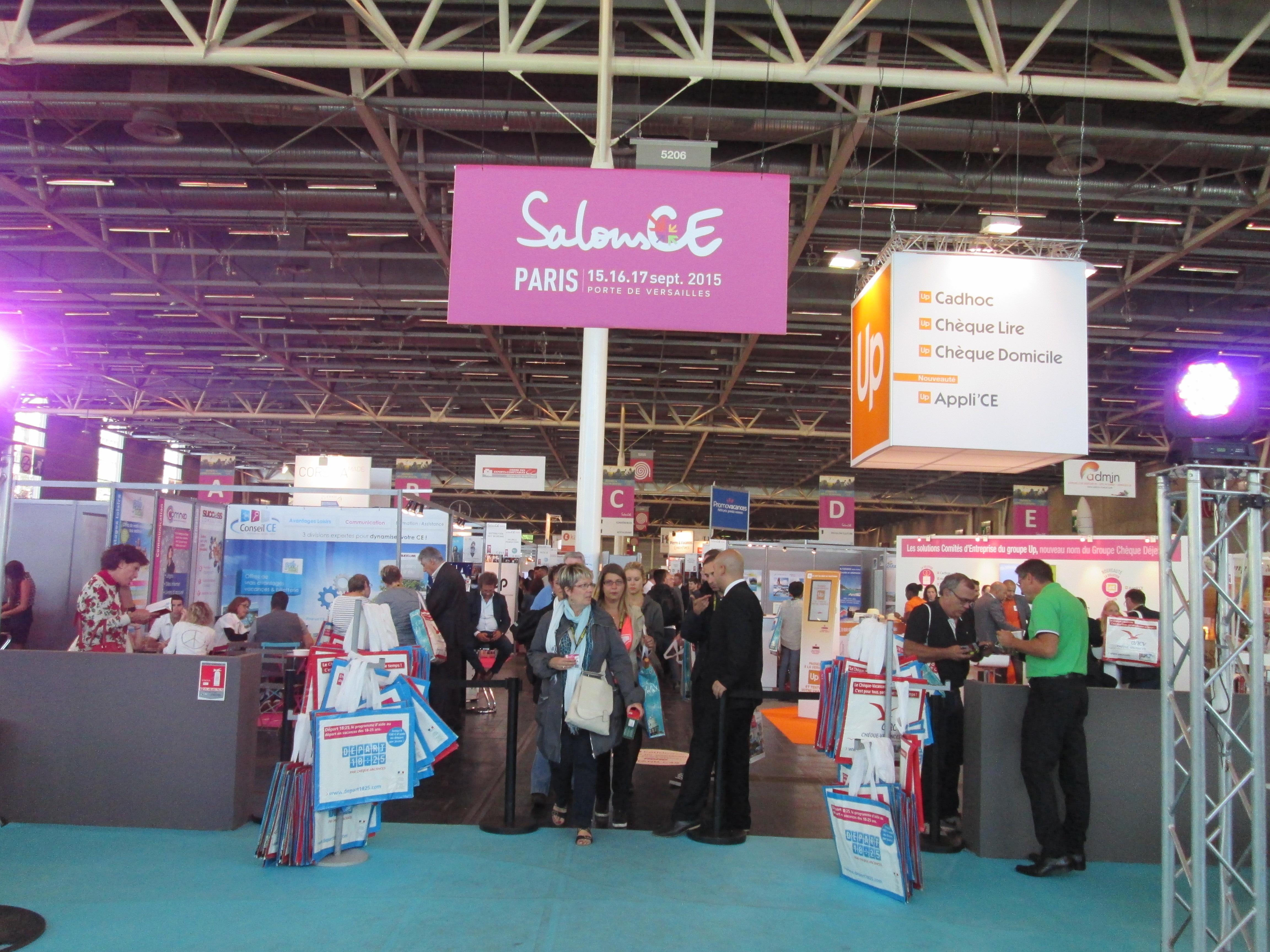 SalonsCE Paris se déroule jusqu'au 17 septembre 2015, Porte de Versailles, à Paris - DR : M.S.